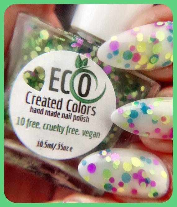 Green Purple Yellow Blue Glitter Nail Polish Neon Glitter Etsy Blue Glitter Nail Polish Nail Polish Glitter Nail Polish