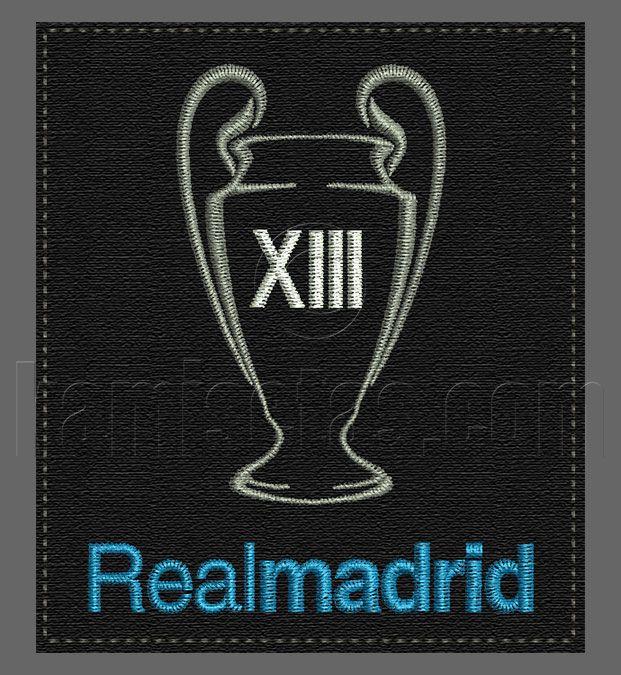 Parche Bord Real Madrid 13 Copas Parches Bordados Real Madrid Parche