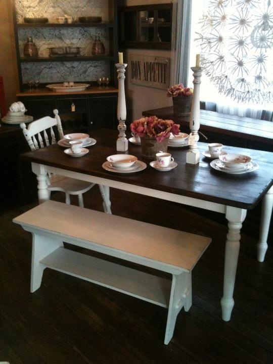 Refinished Farmhouse Table Idea Furniture Rehabs