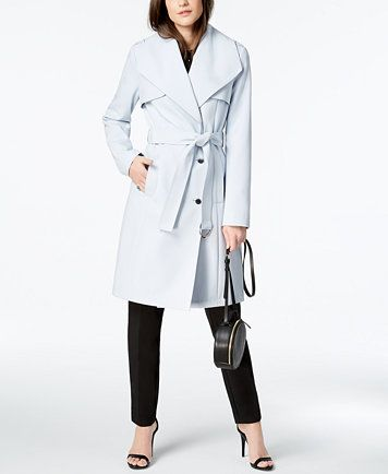 Image 3 of Calvin Klein Wing-Collar Trench Coat