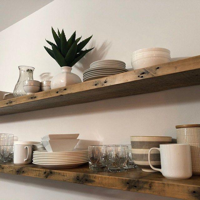 6 Deep Reclaimed Wood Shelves With 2 Handmade Steel Etsy In 2020 Wood Floating Shelves Reclaimed Wood Shelves Floating Shelves