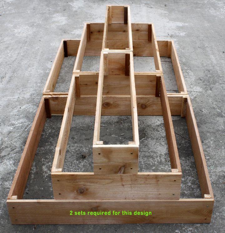 Cedar Raised 3 Tier Planter Bed Garden Free Shipping New | eBay