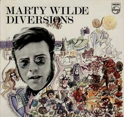 """MARTY WILDE """"Diversions""""1969 Phillips(UK flipback) I learned to check every '68-69 Pop release cos' so many of the best Psych Pop is by least expected & generally two years to late. 'ol ZAPPO's lp has FUZZ, harpsichord  & lush orchestration. """"Zobo"""" is best track"""