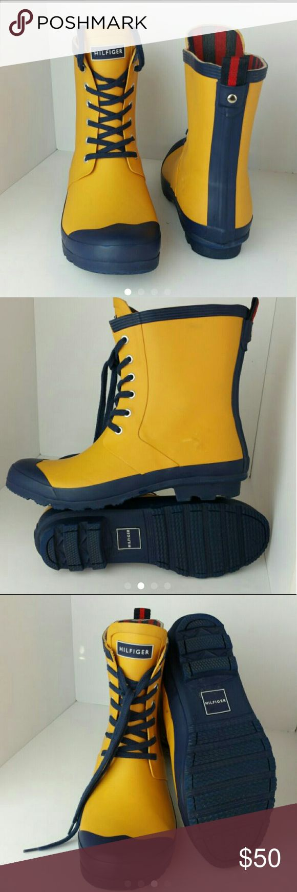TOMMY HILFIGER RENEGADE WOMEN RAIN BOOT VERY CLEAN INSIDE-OUT   SKE # XX Tommy Hilfiger Shoes Winter & Rain Boots