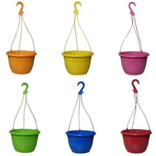 Hanging flower pot D25cm COLOURFUL Plastic Hanging basket #Markenlos #WallHangingBasket