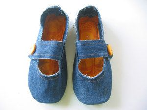 Chaussons femme jeans