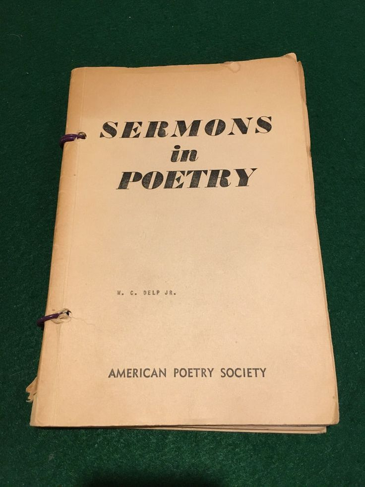 Sermons In Poetry by American Poetry Society 1952