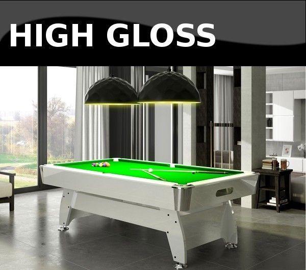 6FT Pool Table High Gloss Radley Diamond Billiard Multi Games Free Accessories #Radley