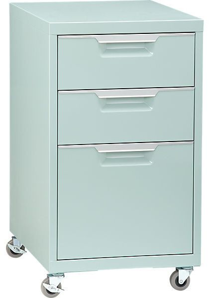 Could I paint my existing ped a fun color???(contemporary filing cabinets and carts by CB2)