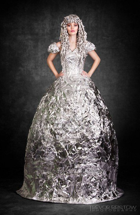 The answer: Make a foil gown. The question: What do you do when you win a case of aluminum foil on The Price is Right?