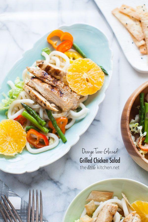 Orange Tare-Glazed Grilled Chicken Salad from   Little Kitchen | Julie Deily