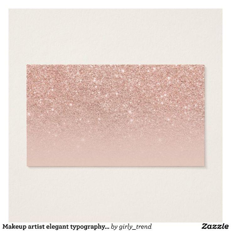 La tipografía elegante del artista de maquillaje tarjeta de negocios   Zazzle