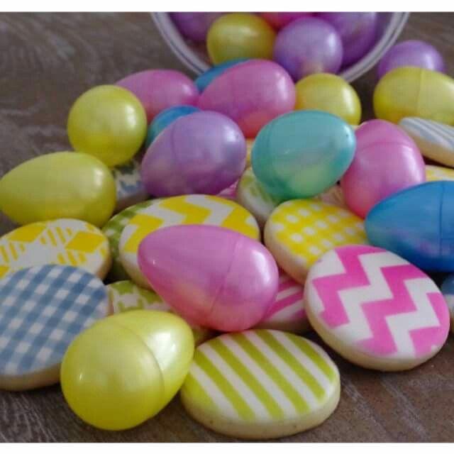 Galletas de Pascua! Easter eggs, alegres y sencillas, por doctorcookies