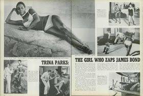 TRINA PARKS: THE GIRL WHO ZAPS JAMES BOND.      Ebony, Mar1972, Vol. 27 Issue 5, p68-74    Trina grew up in Brooklyn's Bedford-Stuyvesa...