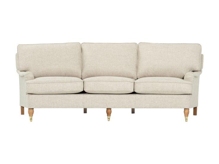 HOWARD Svängd 3,5-sits Soffa Beige i gruppen Inomhus / Soffor / Howardsoffor hos Furniturebox (110-32-75437)