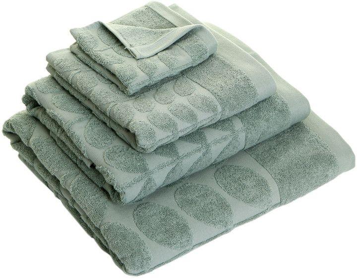 Orla Kiely - Sculpted Stem Towel - Duck Egg - Bath Sheet