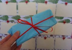 Fun and easy homemade advent calendar idea for adults or children – 24 envelopes, each envelope contains a clue to where a gift is hidden in the home! See blog post for DIY how-to tutorial and gift ideas / stocking filler ideas and treasure hunt clues