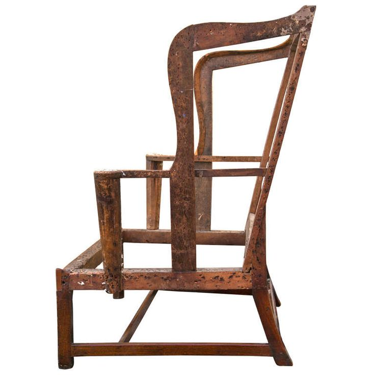 chippendale antique wing chair frame