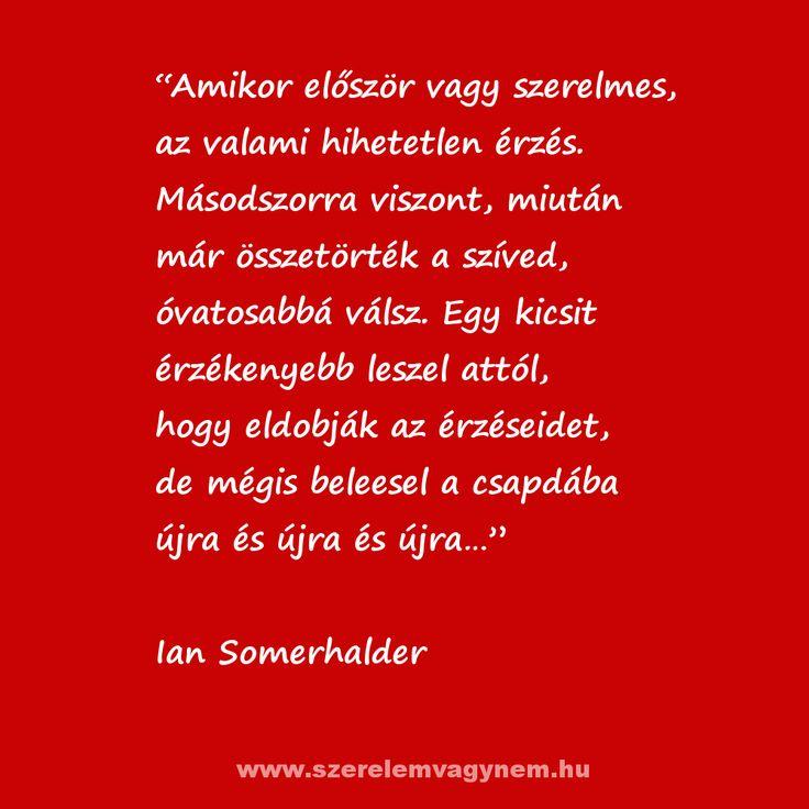 Ian Somerhalder a szerelemről
