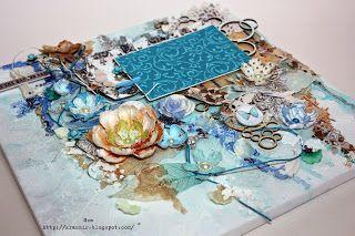 Красивый Мир: Синий синий....холст