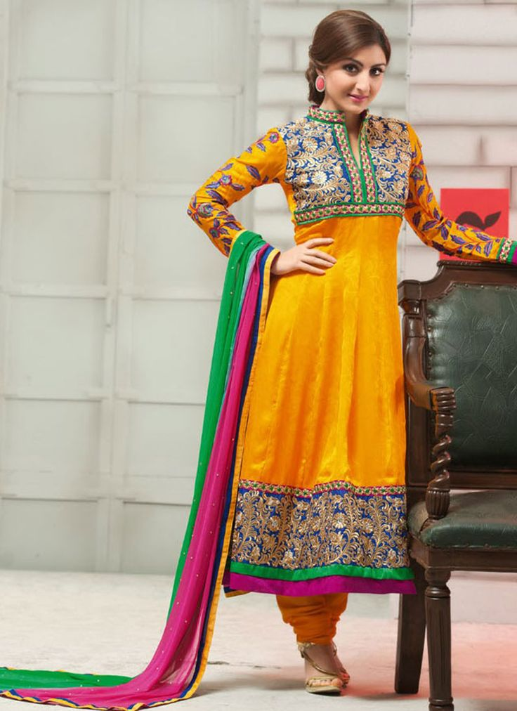 $103 Soha Ali Khan Yellow Anarkali Suit