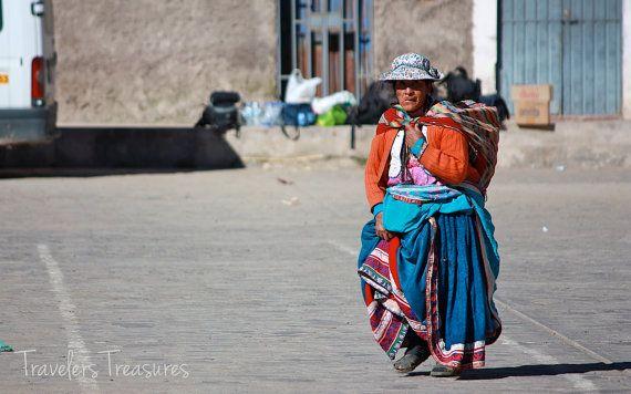 Peruvian Lady Portrait Photograph Travel by TravelersTreasures, $18.00