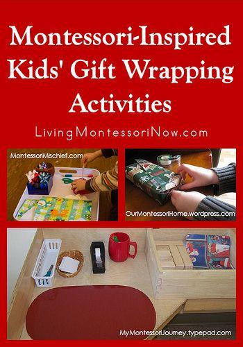 Montessori Monday – Montessori-Inspired Kids' Gift Wrapping Activities