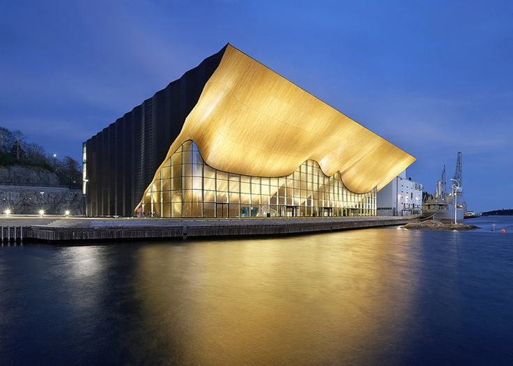 Kilden Performing Arts Centre by ALA Architects. Those cantilever roofs are absolutely impressive!