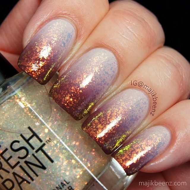 The 25 best copper nails ideas on pinterest chrome rose gold nails nailart ombre gradient using opi dont bossa nova me around prinsesfo Choice Image