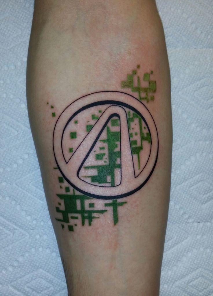 Borderlands Vault Logo by David Mushaney at Rebel Muse Tattoo in Lewisville TX
