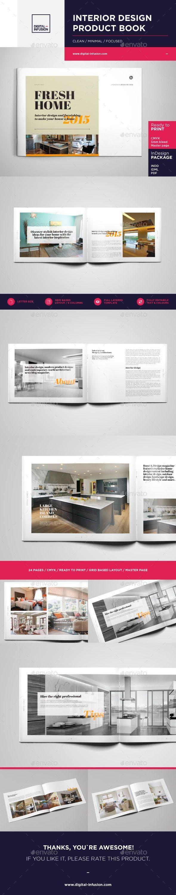 Interior Design Brochure Catalog Brochure Design Catalog Design Brochure Design Template