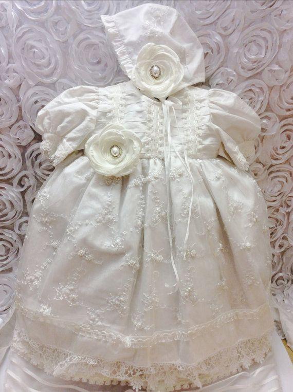 Lilah christening gown/ Baptism Gown/ Ropon de Bautizo, Ropon para Nina on Etsy, $105.99
