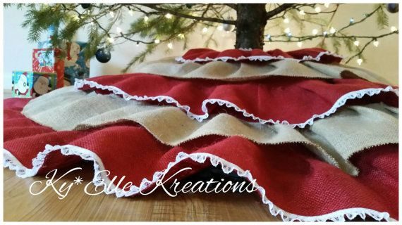 Christmas in July Sale!!  Use coupon code TREESKIRT to save $10 off any tree skirt order in our shop this month https://www.etsy.com/listing/257640331/christmas-tree-skirt-tree-skirt-burlap