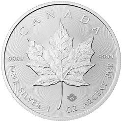 2015 Canadian Silver Maple $5 Brilliant Uncirculated