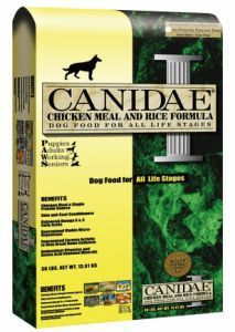 Canidae is actually produced in the Diamond Dog food factories.  So it isn't much surprise that the ingredient lists are a very similar.  The great thing about Canidae is that their dog food is very simply meat and grain.  No additives.