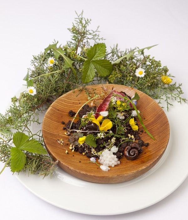 This highly sophisticated snail garden has become a signature dish at Phil Fanning's restaurant Paris House and was inspired by the chef's childhood holidays in France and relationship with a local snail producer.