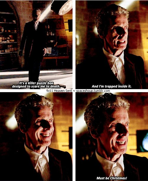 """9x11 Heaven Sent [gifset] - """"It's a killer puzzle box designed to scare me to death."""" - 12th Doctor; Doctor Who"""