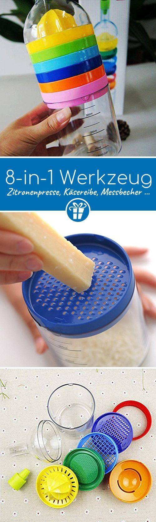 8in 1Creative Küche Werkzeug Mehrzweck-Funktion für Kochen-Zitronenpresse, Käsereibe, Messbecher etc.. - Küchenhelfer   Küchenzubehör   Küchenaccessoires   Küchen Gadgets   Kitchen Gadgets (*Partner-Link)