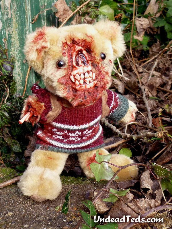 A cuddly little friend every child should have. #zombie #teddy #yikes
