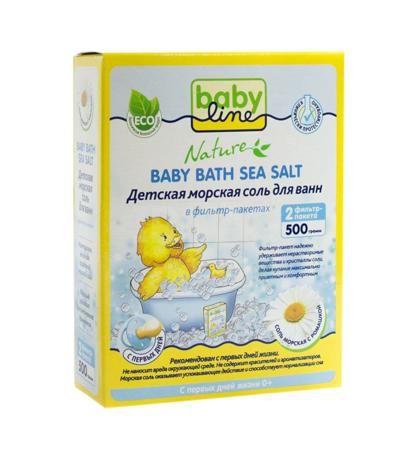 Babyline Соль морская, с ромашкой  — 106р. --------------------- Детская морская соль для ванн BabyLine с ромашкойобогащает воду минералами, необходимыми для здоровья ребенка. Солевые ванночки снимают раздражение и зуд с нежной детской кожи, способствуют повышению иммунитета и общему укреплению организма, оказывают успокаивающее действие. В случае проявления опрелостей на кожных покровах, которые можно обнаружить практически у каждого ребенка, нет ничего лучше целебной ванны из морской соли…
