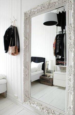Large decorative mirror in bedroom?