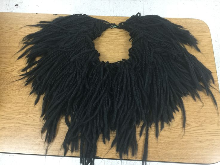 Lawrence Jones Middle School - Lion King Jr Scar's black mane. Made with Lion brand thick yarn.