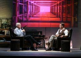 Bill Hybels (left) interviews Mark Burnett (right) at the 2013 Global Leadership Summit.