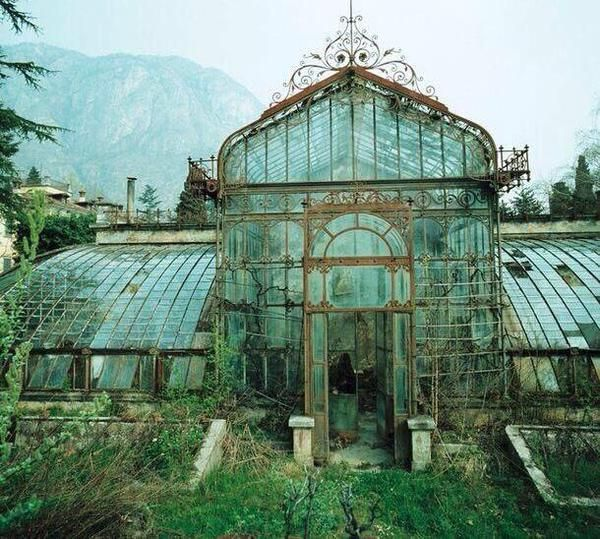 Greenhouse found in Italy. Photographed in 1985.