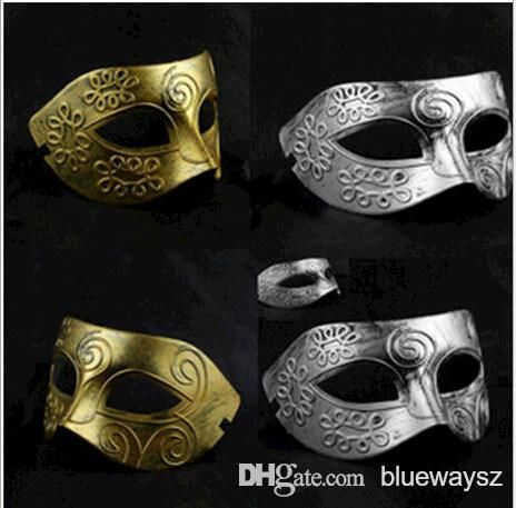 Wholesale Men's retro Greco-Roman Gladiator masquerade masks Vintage Golden/Silver Mask silver Carnival Mask Mens Halloween Costume Party Mask from China :$20.84 | DHgate.com