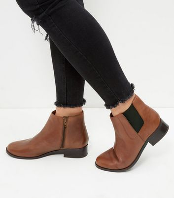 Tan Leather Chelsea Boots  | New Look