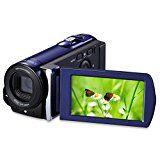 LESHP Caméscopes Haute Définition Caméra Vidéo HD 601S 1080P Max 20.0 MP Caméra Numérique Améliorée Caméra DV 3.0 Pouces TFT LCD Rotation écran 16X Zoom Vidéo Recorder Support 270  Rotation et carte SD jusqu'à 32 GB (HDV-601S)