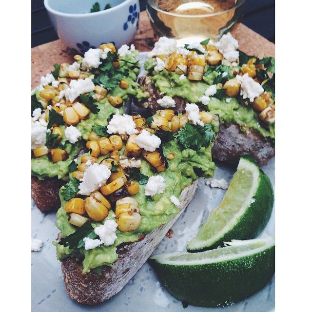 Mexican Grilled Corn & Avocado Toast // insta // brittxxbritt