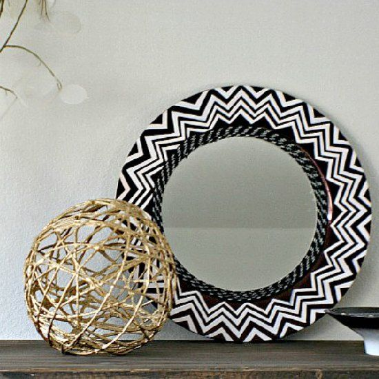 34 Fantastic Diy Home Decor Ideas With Rope: Make This Nate Berkus Inspired Accent Mirror Using A Plate