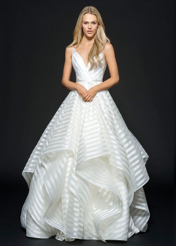 Striped Decklyn Wedding Dress by Hayley Paige   http://heyweddinglady.com/styling-decklyn-hayley-paige/
